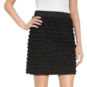 Michael Kors Black Tiered Ruffle Mini Skirt Sz 10P